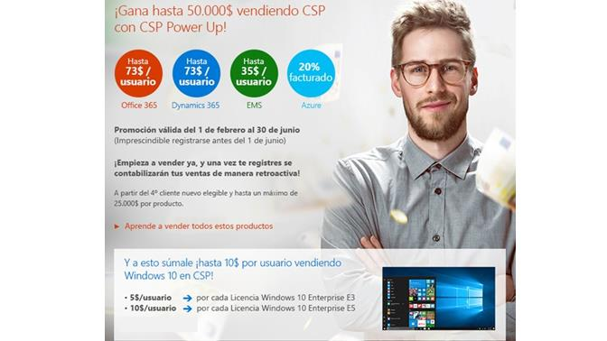 MIcrosoft CSP Power up